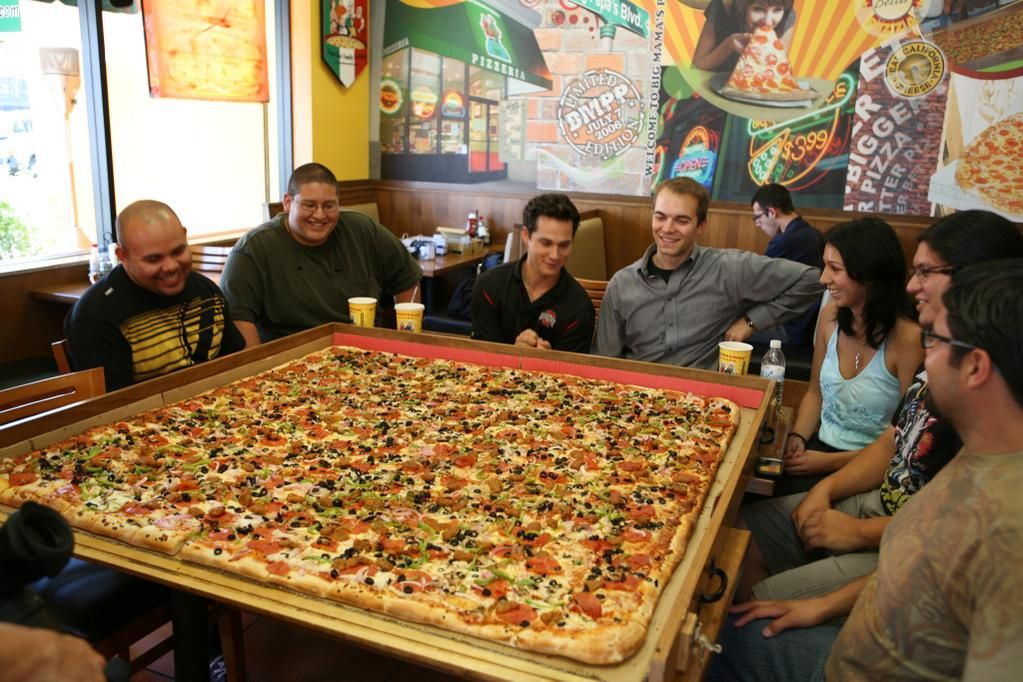The Largest Pizza Commercially Available in the World