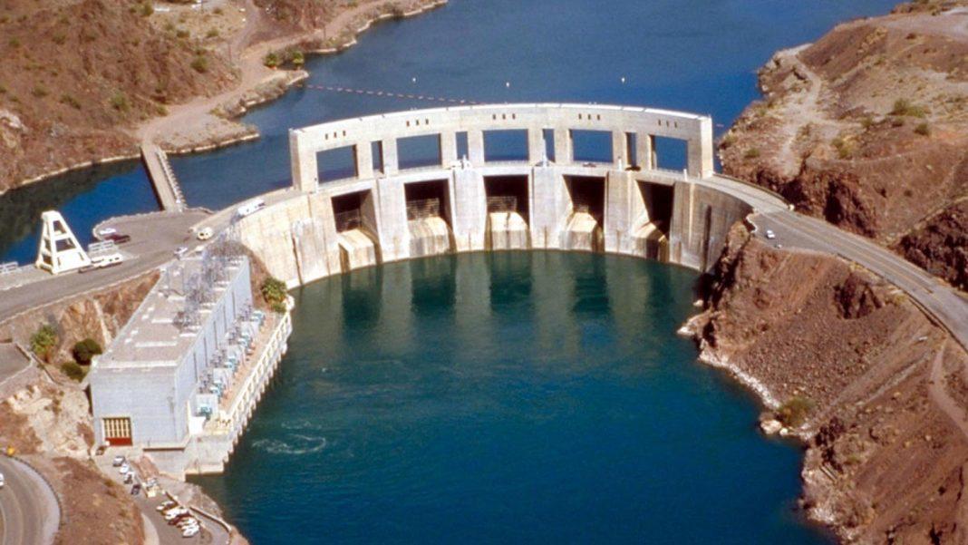 The Parker Dam of the Colorado River